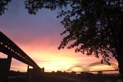 Puesta del sol en Memphis Imagen de archivo