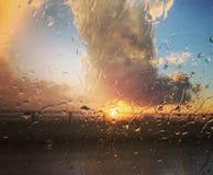 Puesta del sol en Miami Fotografía de archivo libre de regalías