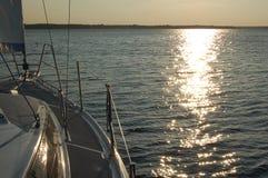 Puesta del sol en MikoÅajki Fotos de archivo libres de regalías