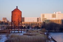 Puesta del sol en Milwaukee Imágenes de archivo libres de regalías