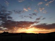 Puesta del sol en Minas Gerais Fotografía de archivo