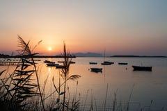 Puesta del sol en Mozzia Fotos de archivo libres de regalías