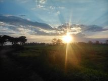 Puesta del sol en Nakuru Imágenes de archivo libres de regalías