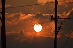 Puesta del sol en New Jersey Foto de archivo libre de regalías