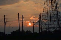 Puesta del sol en New Jersey Fotos de archivo libres de regalías
