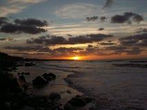 Puesta del sol en Normandía Fotos de archivo