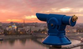 Puesta del sol en Novi Sad Imagen de archivo libre de regalías