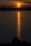 Puesta del sol en Nuk Fotografía de archivo libre de regalías