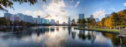 Puesta del sol en Orlando Fotos de archivo libres de regalías