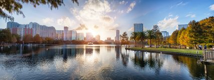 Puesta del sol en Orlando Imagenes de archivo