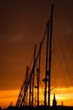 Puesta del sol en Ostende imágenes de archivo libres de regalías
