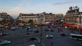 Puesta del sol en París almacen de video