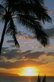 Puesta del sol en paraíso imagen de archivo libre de regalías