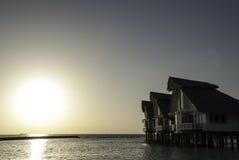 Puesta del sol en Paradiese Foto de archivo libre de regalías