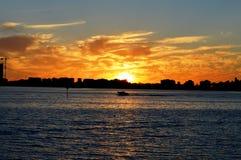 Puesta del sol en Perth en Australia occidental foto de archivo