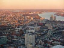 Puesta del sol en Philadelphia Foto de archivo libre de regalías