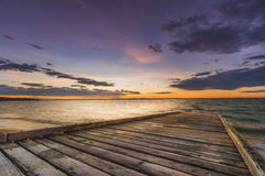 Puesta del sol en Phillip Island Foto de archivo