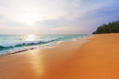 Puesta del sol en Phuket Imágenes de archivo libres de regalías