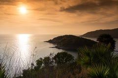 Puesta del sol en Phuket Imagen de archivo libre de regalías