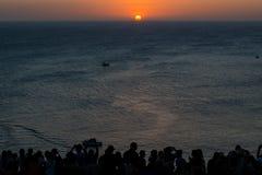 Puesta del sol en phuket Fotos de archivo