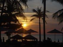 Puesta del sol en Phuket, Tailandia Fotos de archivo libres de regalías