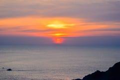 Puesta del sol en Phuket, Tailandia Fotografía de archivo