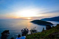 Puesta del sol en Phuket, Tailandia Imagen de archivo