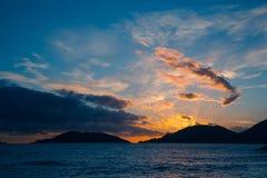 Puesta del sol en Portovenere Fotografía de archivo libre de regalías