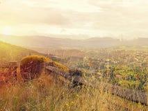 Puesta del sol en Portugal Imagen de archivo