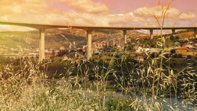 Puesta del sol en Portugal Foto de archivo