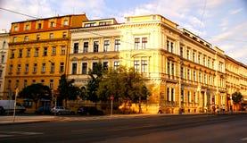 Puesta del sol en Praga Foto de archivo libre de regalías