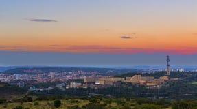 Puesta del sol en Pretoria Imagen de archivo libre de regalías