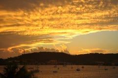 Puesta del sol en Puerto Rico Imagen de archivo libre de regalías
