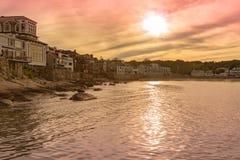 Puesta del sol en Rockport, mA Fotografía de archivo libre de regalías