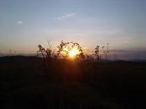 Puesta del sol en Rumania Imágenes de archivo libres de regalías