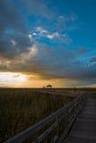 Puesta del sol en Sam Roi Yod National Park Fotos de archivo libres de regalías