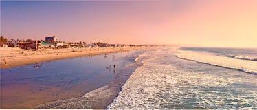 Puesta del sol en San Diego Foto de archivo