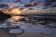 Puesta del sol en San Diego Imagen de archivo