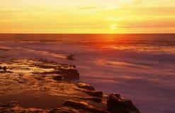 Puesta del sol en San Diego Imagen de archivo libre de regalías