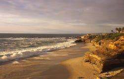 Puesta del sol en San Diego Fotografía de archivo