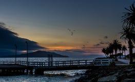 Puesta del sol en San Francisco Foto de archivo libre de regalías