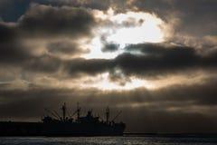Puesta del sol en San Francisco Bay Imagen de archivo