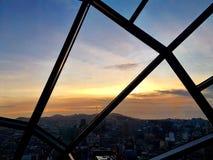 Puesta del sol en San Fransisco Fotos de archivo