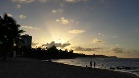Puesta del sol en San Juan Fotografía de archivo