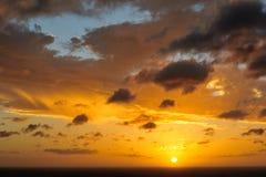 Puesta del sol en San Juan del Sur Fotos de archivo