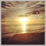 Puesta del sol en Santa Barbara Fotografía de archivo libre de regalías