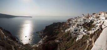 Puesta del sol en Santorini Imagen de archivo libre de regalías