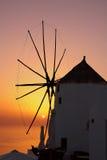 Puesta del sol en Santorini Imágenes de archivo libres de regalías