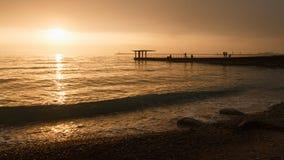 Puesta del sol en Sochi Fotografía de archivo libre de regalías
