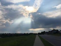 Puesta del sol en Springdale Fotografía de archivo